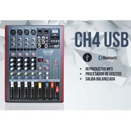 CH4 USB MEZCLADORA PASIVA 4 CANALES USB