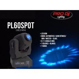PL60SPOT CABEZA BIG DEEPERCabeza móvil tipo spot con gobos